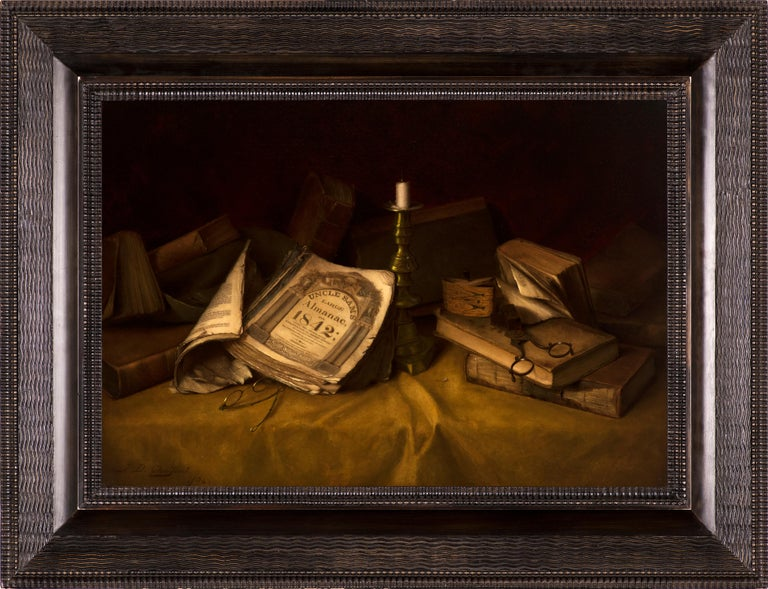 The Old Almanac - Painting by Jefferson David Chalfant
