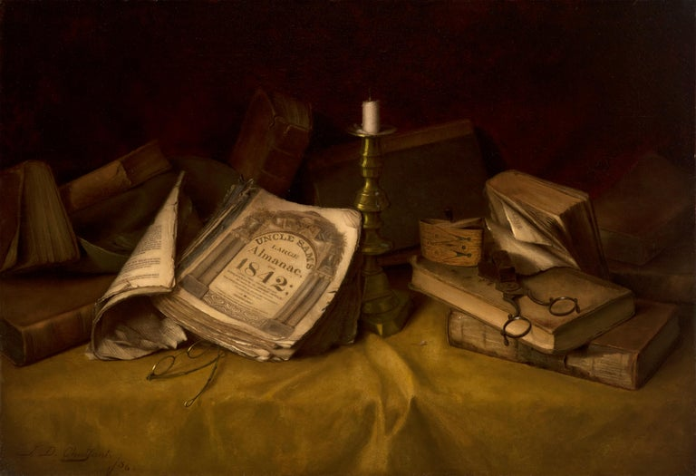 Jefferson David Chalfant Still-Life Painting - The Old Almanac