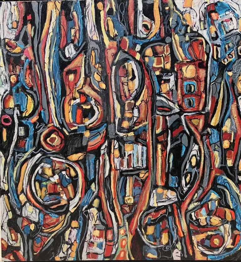 Jeffrey Davies Abstract Painting - COLOROSO # 43, Painting, Acrylic on Canvas