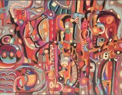 Escondidos # 6, Painting, Acrylic on Canvas
