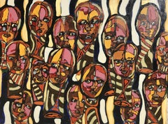 FACES # 11, Painting, Acrylic on Canvas