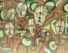 FACES #22, Painting, Acrylic on Canvas