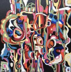 NEGRITOS # 10, Painting, Acrylic on Canvas