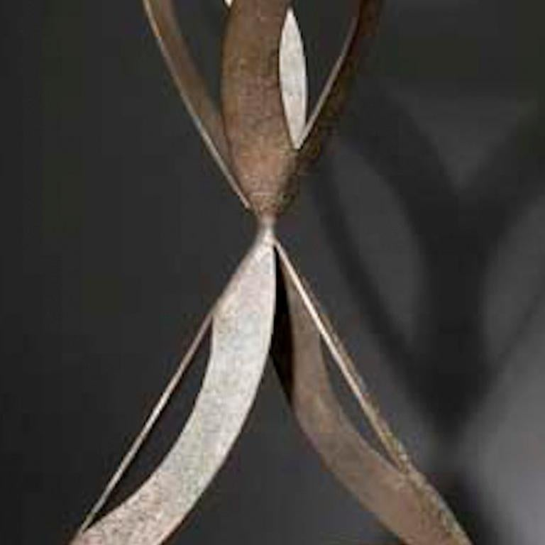 ABOVE & BELOW, abstract sculpture - Black Abstract Sculpture by Jeffrey Maron