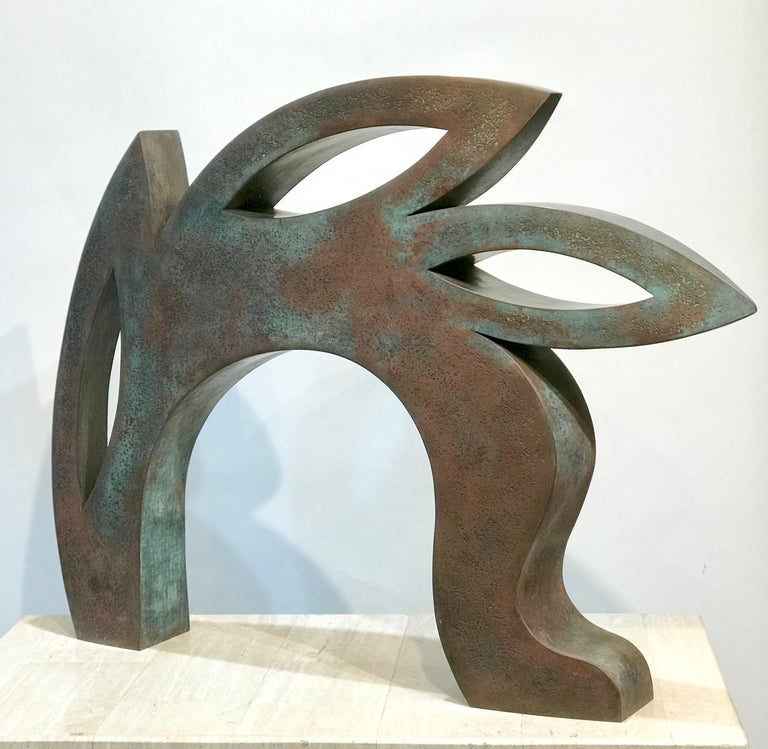 Canto, copper sculpture,red, black, abstract rabbit, Jeffrey Maron, NYC For Sale 1