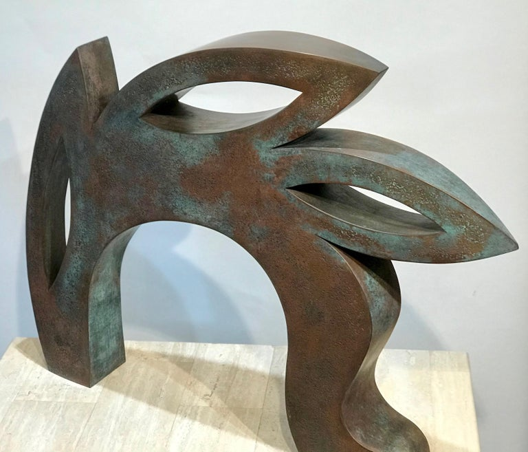 Canto, copper sculpture,red, black, abstract rabbit, Jeffrey Maron, NYC For Sale 4