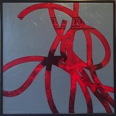 Thread #22 (Love Themes), Minimalist, Oil, Album, Abstract