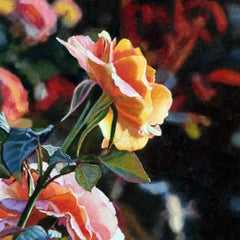 """""""October Garden"""", Contemporary, Oil, Painting, Nature, Flower, Photorealism"""