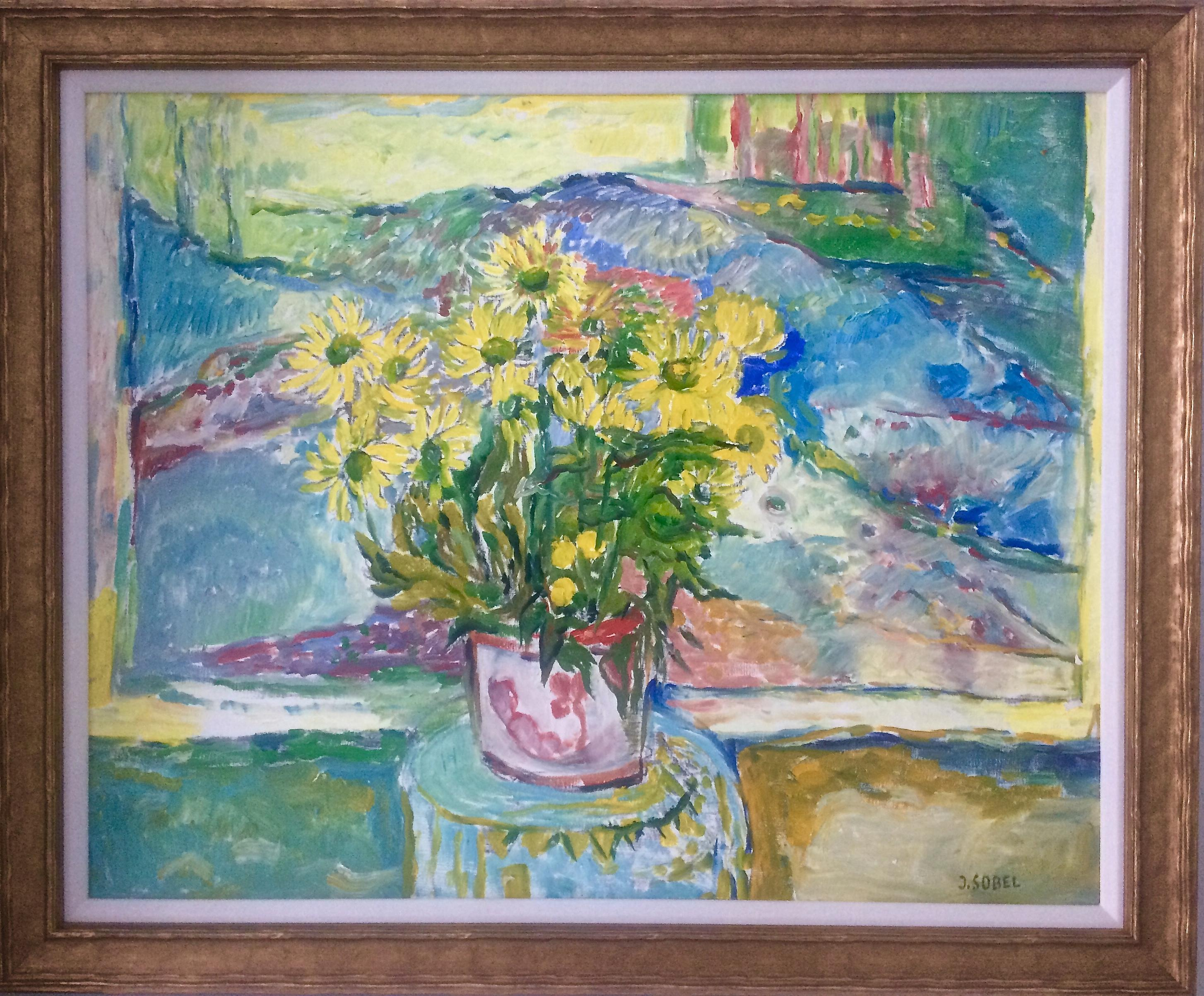 Flower Pot With Yellow Flowers
