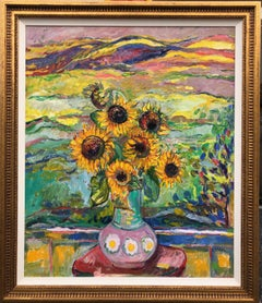 Sunflowers In The Landscape