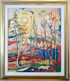Vibrant Landscape With The Sun Oil Painting