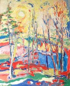 Vibrant Impressionist Landscape