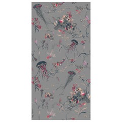 Jellyfish Wallpaper in Grey by 17 Patterns