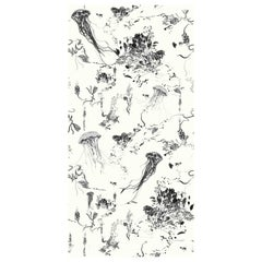 Jellyfish Wallpaper in Ivory by 17 Patterns