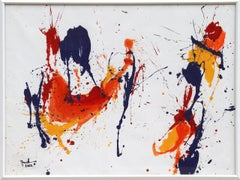 Large Colorful Abstract Painting by Jenik Cook