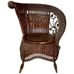 Jenkins & Phipps Stick and Ball Wicker Portrait Chair