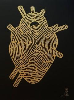 Black Thumbprint Heart