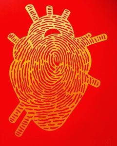 Red Thumbprint Heart