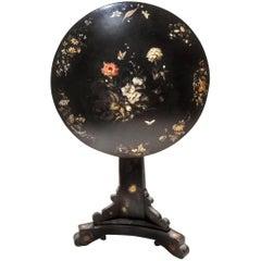 Jennens & Bettridge 19th-Century Victorian Tilt-Top Lacquered Papier Mache Table