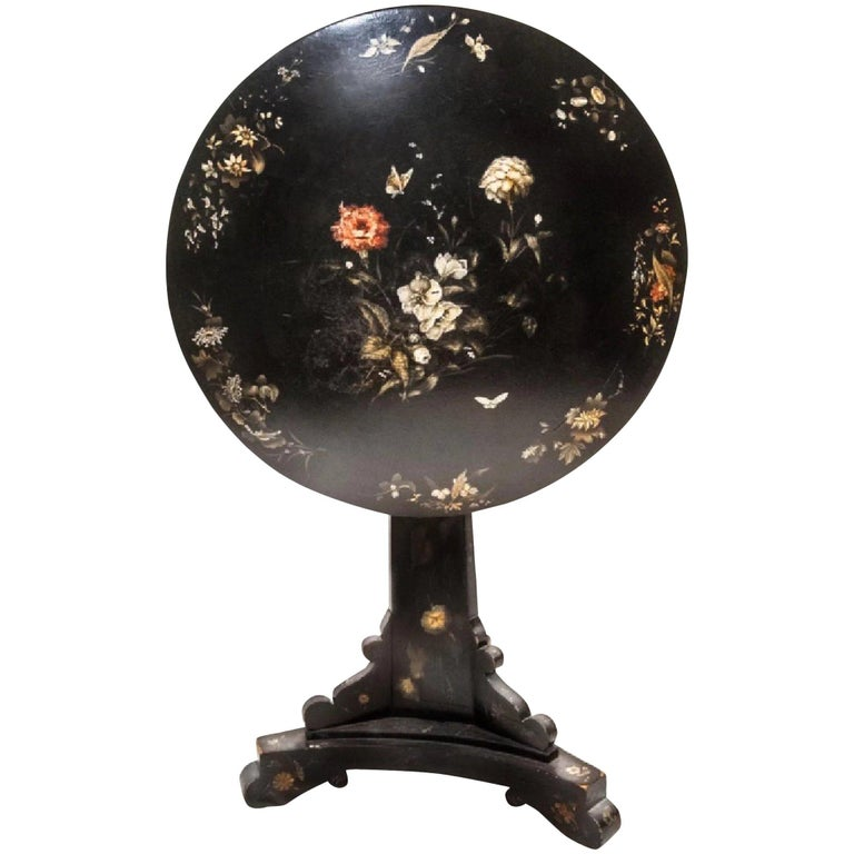 Jennens & Bettridge 19th-Century Victorian Tilt-Top Table, British Antique For Sale