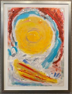 """EYE OF THE STORM"" 50s 60s ABSTRACT STUDENT OF HANS HOFFMAN MID CENTURY MODERN"