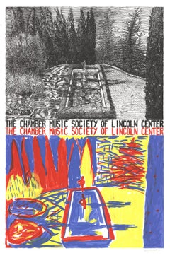 1981 Jennifer Bartlett 'Chamber Music of Lincoln Center' Abstract Multicolor,Yel