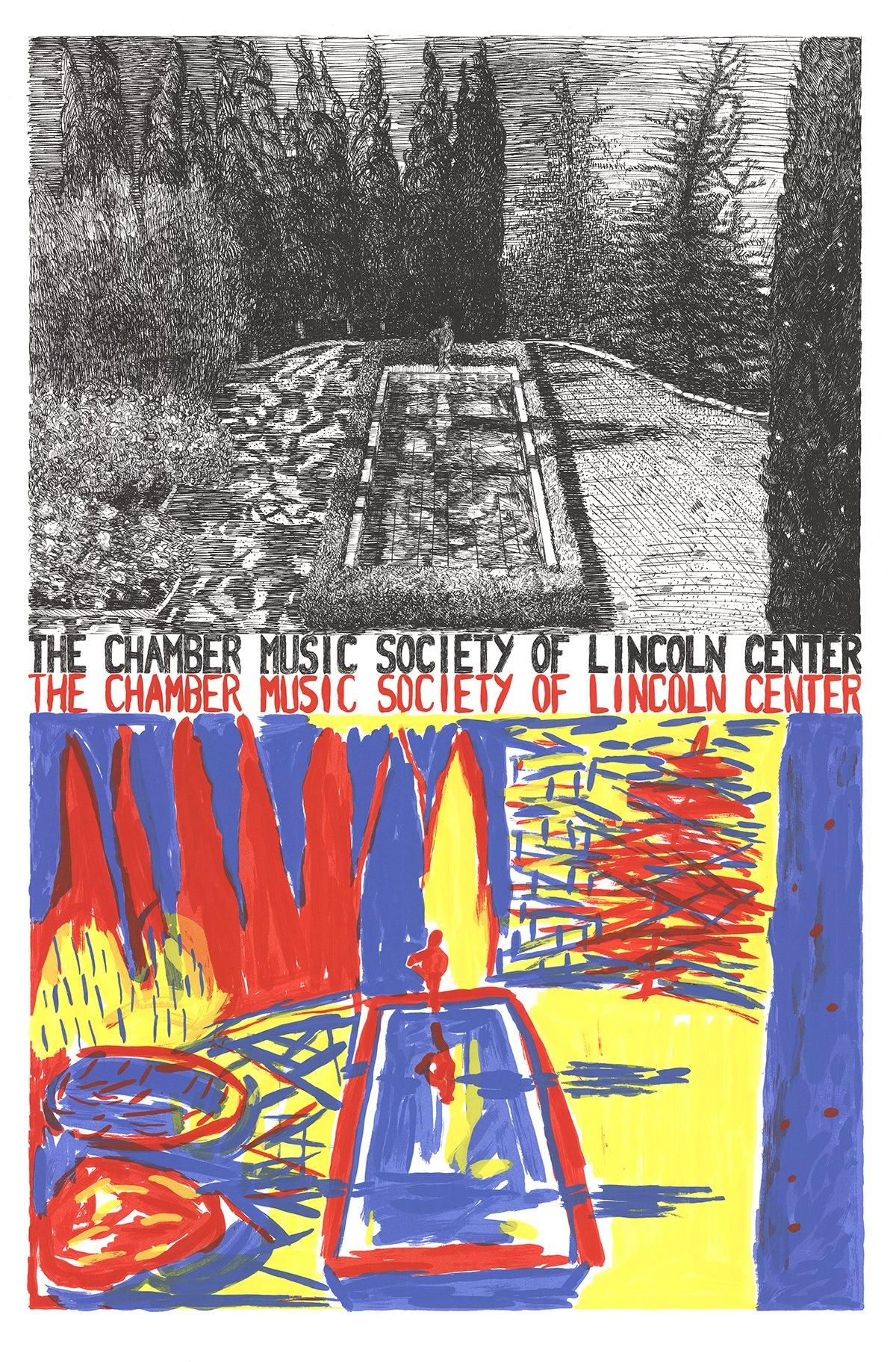 1981 After Jennifer Bartlett 'Chamber Music of Lincoln Center' Contemporary