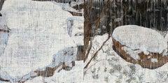 """Two Boulders"" Jennifer Bartlett Winter Landscape Edition Print"