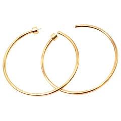 Jennifer Fisher 4 Karat Gold Eternity Hoops