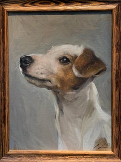 Exceptional Portrait sketch of an American Jack Russell