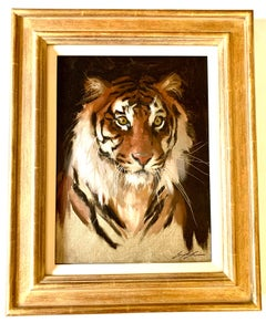 Portrait of a Tiger, looking at the painter/artist