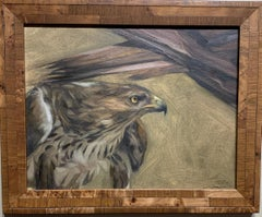 Portrait of an American Eagle in a landscape.With wonderful feathering.