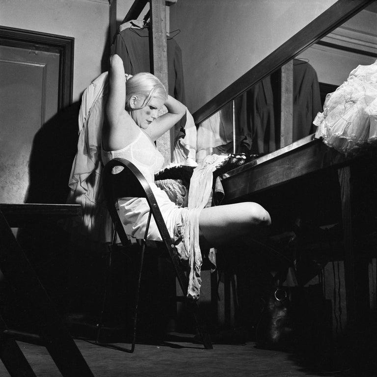 Jennifer Greenburg Black and White Photograph - The director knocked twice
