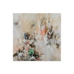 Jennifer JL Jones, Mixed Media Painting on Wood Panel, CLOUD ON CLOUD