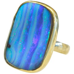 Jennifer Kalled Opal Ring 22 Karat 18 Karat 14 Karat Gold