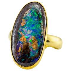 Jennifer Kalled Opal Ring in 22 Karat and 18 Karat Gold