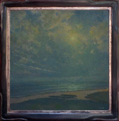 Clouded by Jennifer Moses. Original oil on canvas landscape painting.