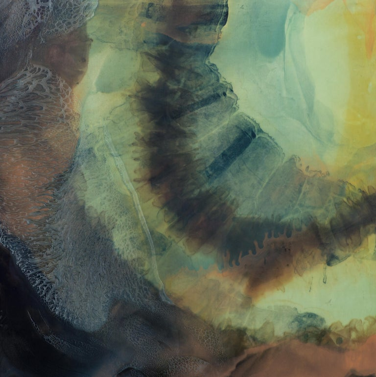 Jennifer Wolf Abstract Painting - Dye Painting #1