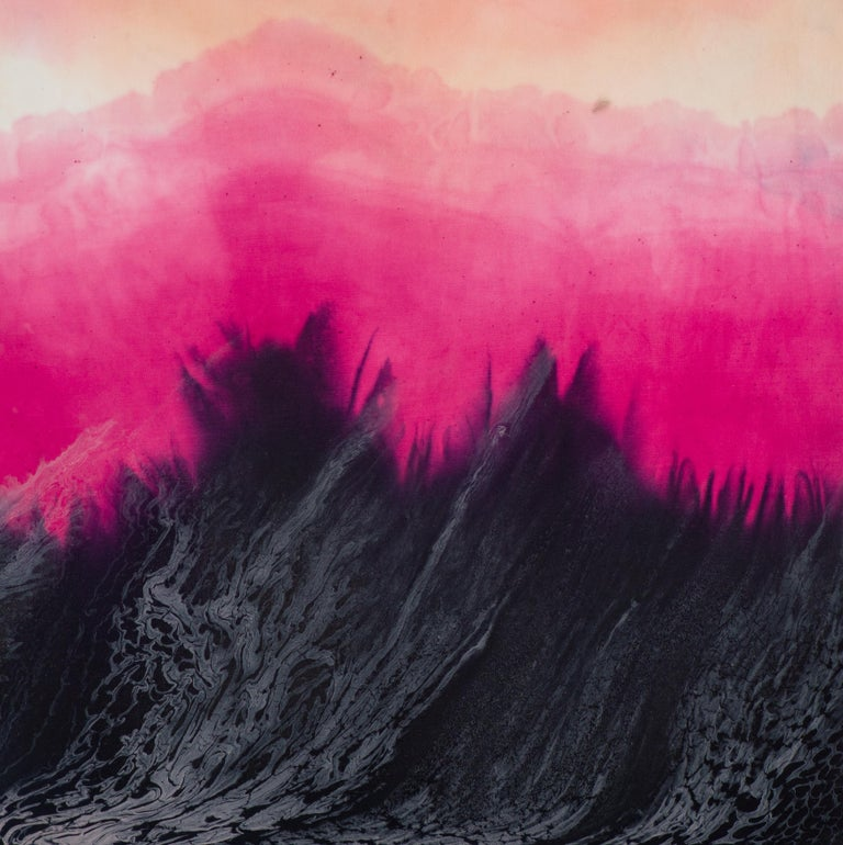 Jennifer Wolf Abstract Painting - Dye Painting #7
