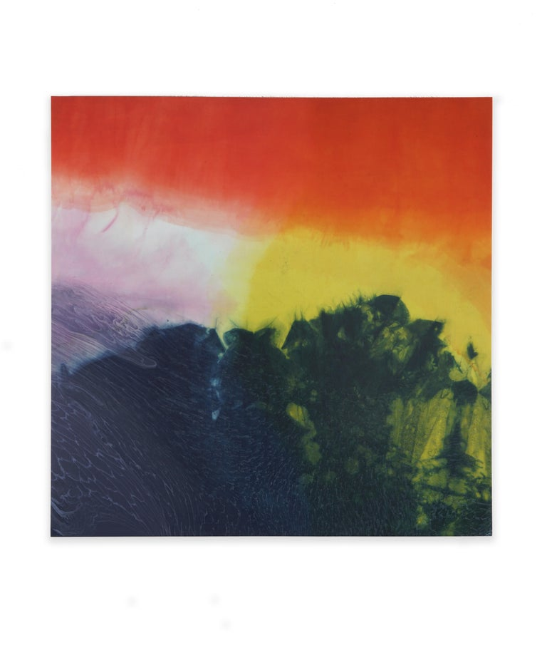 Dye Painting #9 - Abstract Photograph by Jennifer Wolf