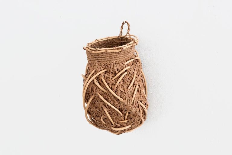 American Jennifer Zurick Nesting Instinct, Contemporary Crafts Baskets, Willow Bark, 2020 For Sale
