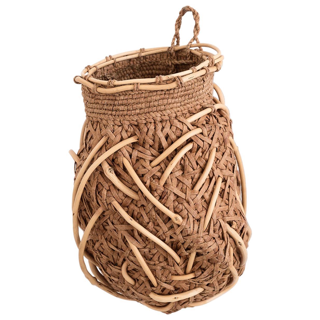 Jennifer Zurick Nesting Instinct, Contemporary Crafts Baskets, Willow Bark, 2020