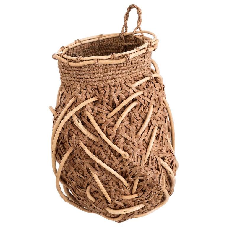 Jennifer Zurick Nesting Instinct, Contemporary Crafts Baskets, Willow Bark, 2020 For Sale