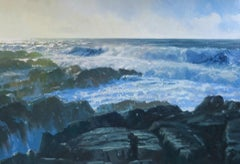 Jenny Aitken, December Storms, Anglesey, Contemporary Art, Affordable Art