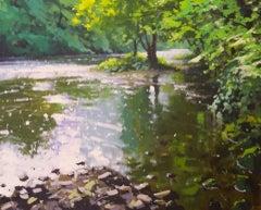 Light On The Derwent, Derbyshire, Jenny Aitken, Landscape Painting, Oil Painting