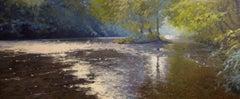 Light on the Derwent, river seascape, Original art, Landscape art,
