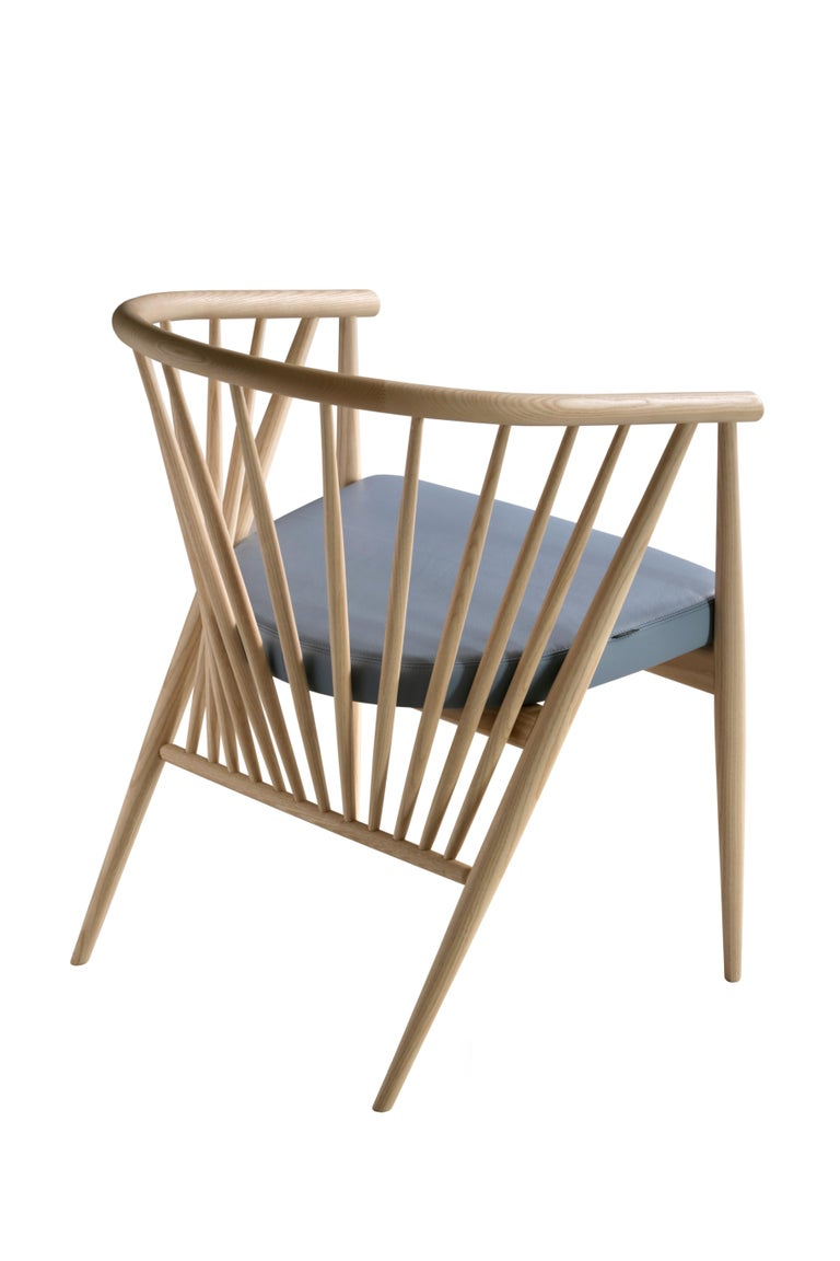 Jenny by Morelato, Easy Chair in Hand Turned Ashwood For Sale 1