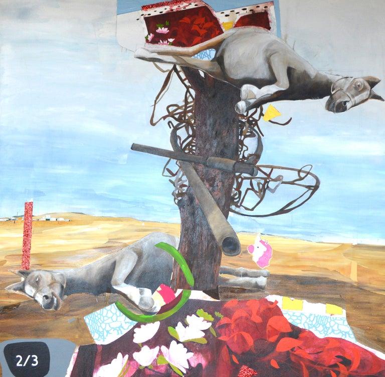 Startup Prometheus, horse horse unicorn - Mixed Media Art by Jenny Day