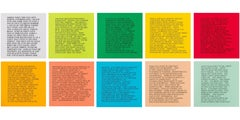 10 Inflammatory Essays 1979-1982 -- Lithograph, Small Set, Text Art by Holzer
