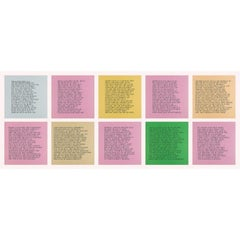 10 Inflammatory Essays 1979-1982 -- Lithograph, Text Art by Jenny Holzer